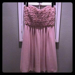 Strapless sweetheart light pink Calvin Klein dress
